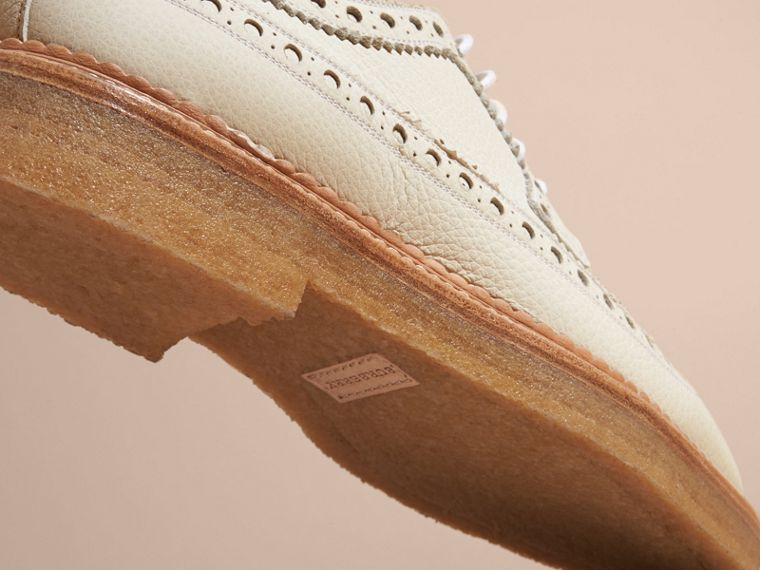 Leather Wingtip Brogues Off White - cell image 4