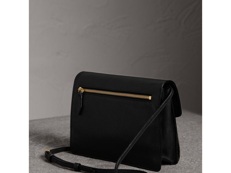 Borsa a tracolla piccola in pelle e motivo House check (Nero) - Donna | Burberry - cell image 4