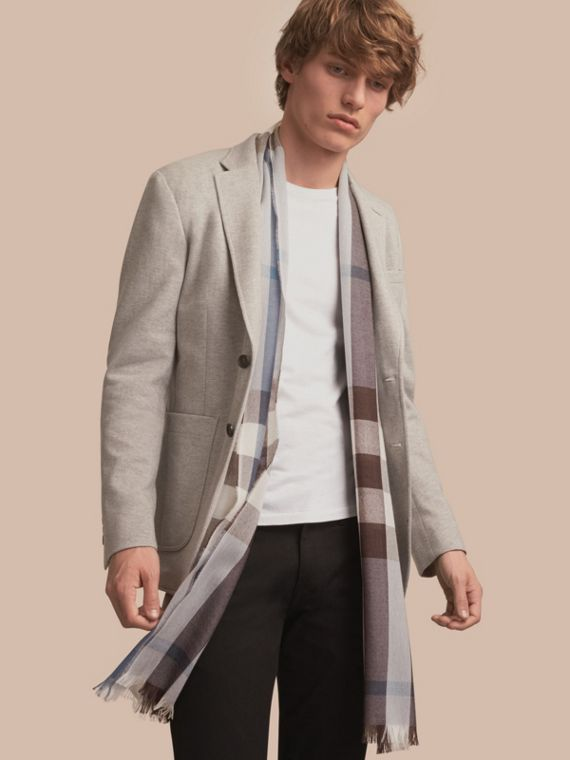 Slim Fit Herringbone Cotton Blend Jacket