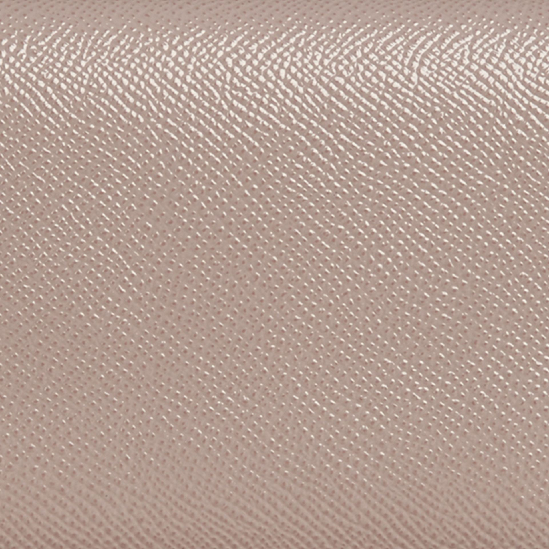 Pale grey Patent London Leather Continental Wallet - gallery image 2
