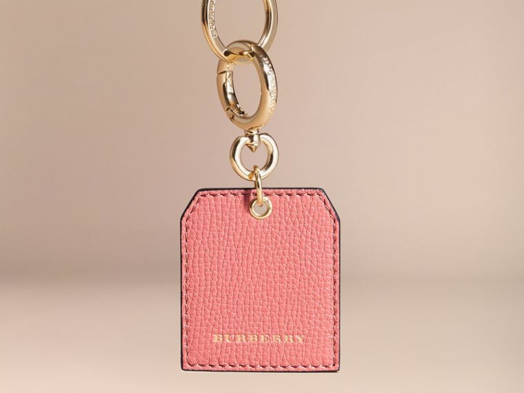 Grainy Leather Key Charm in Copper Pink - Women | Burberry - cell image 4