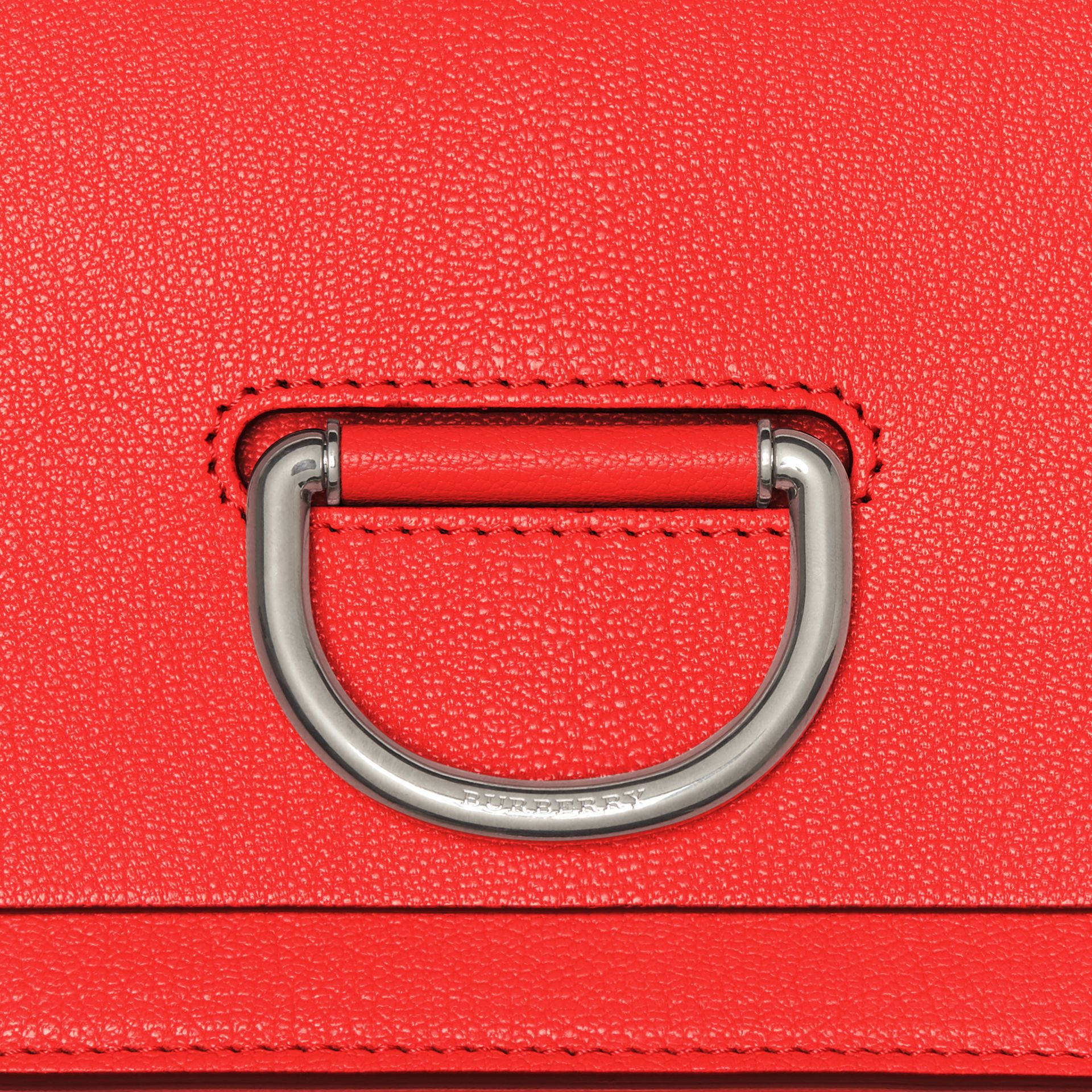 The Small Leather D-ring Bag in Bright Red - Women | Burberry - gallery image 1
