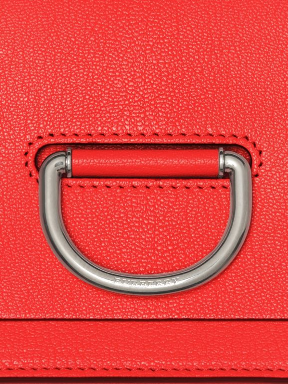 The Small Leather D-ring Bag in Bright Red - Women | Burberry - cell image 1