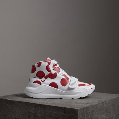 Burberry Sneakers con stampa graffiti - Bianco Aclaramiento De Precio Más Barato uY5p2fe