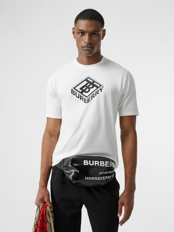 Logo Graphic Cotton T-shirt in White