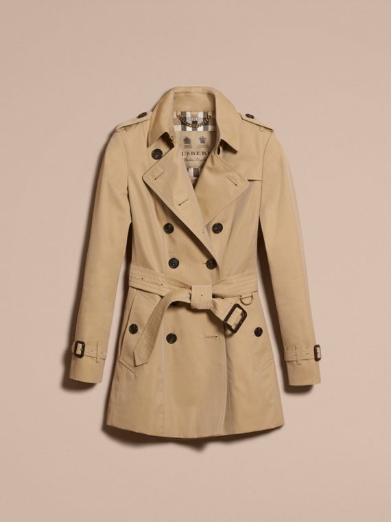 Honey The Chelsea – Short Heritage Trench Coat Honey - cell image 3