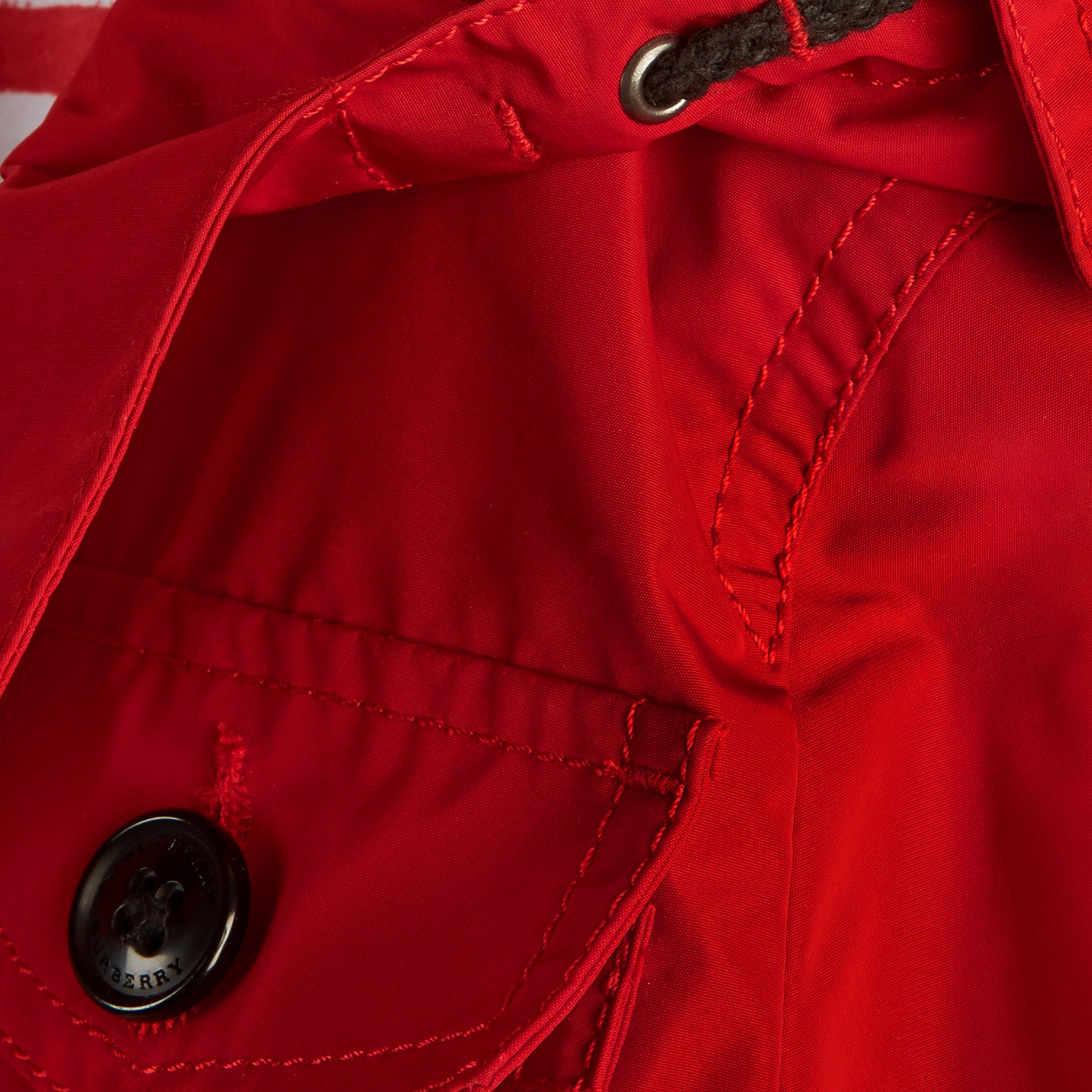 Hooded Packaway Technical Jacket Military Red - gallery image 2
