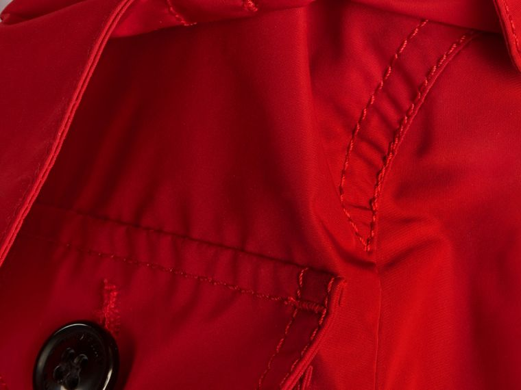 Hooded Field Jacket in Military Red - Boy | Burberry - cell image 1