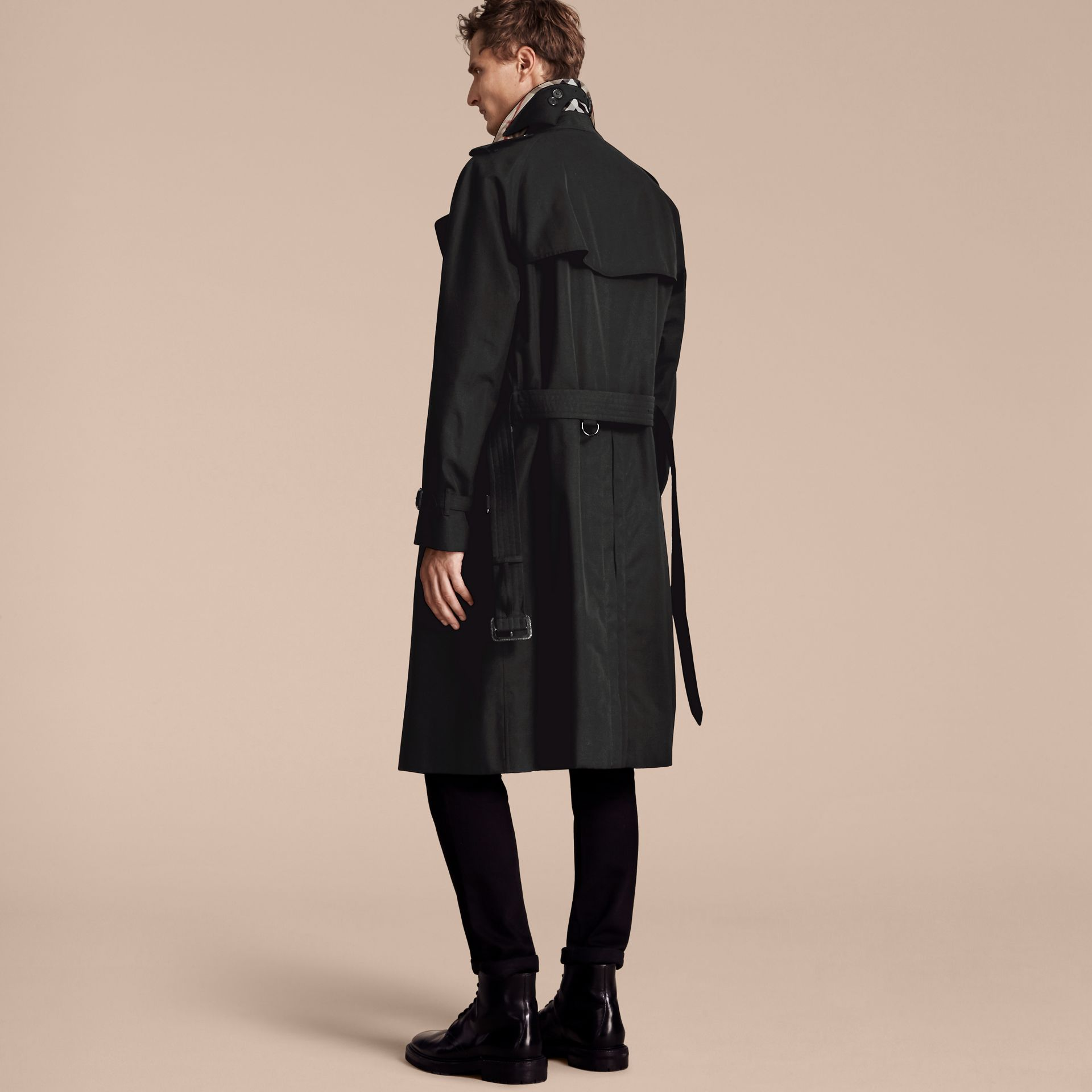 Black The Westminster – Long Heritage Trench Coat Black - gallery image 3