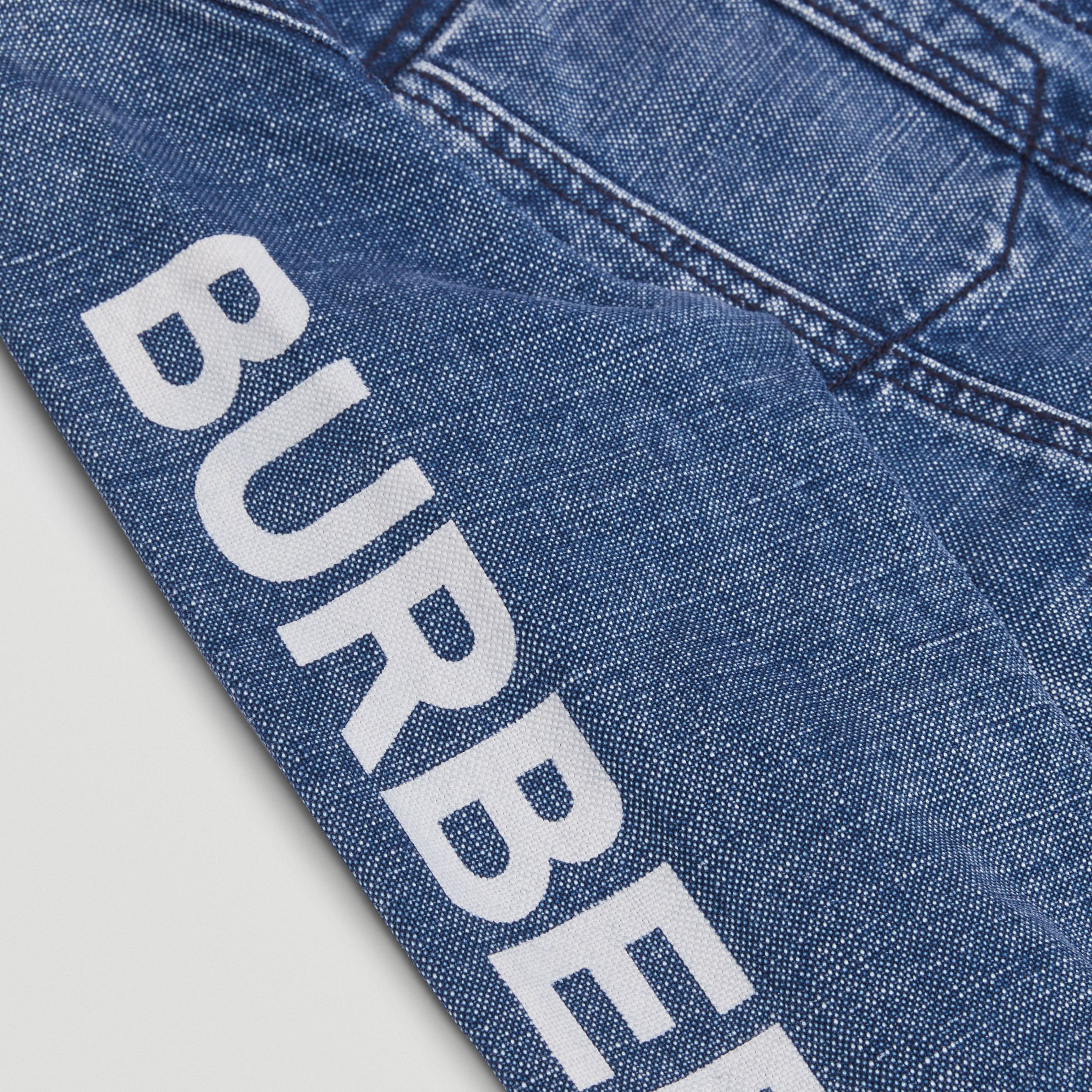 Logo Print Japanese Denim Jacket in Indigo | Burberry - 2