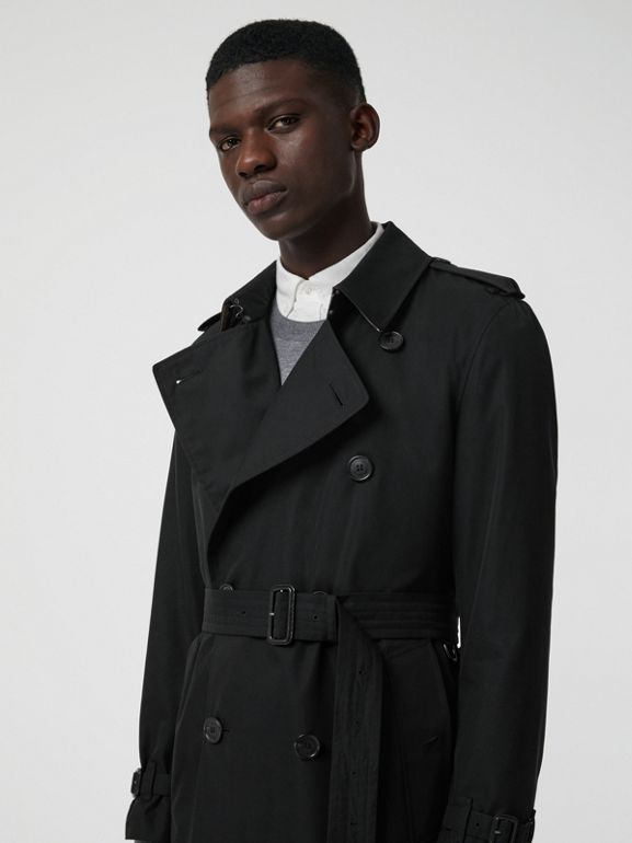 The Long Kensington Heritage Trench Coat in Black - Men | Burberry United Kingdom - cell image 1