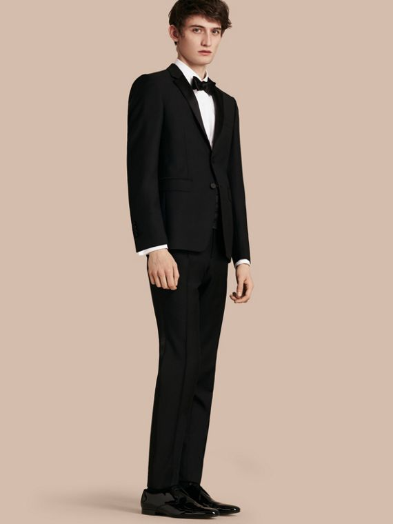 Modern Fit Wool Mohair Half-canvas Tuxedo - Men | Burberry Australia