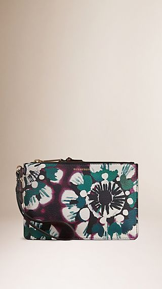 Tie-dye Leather Wristlet