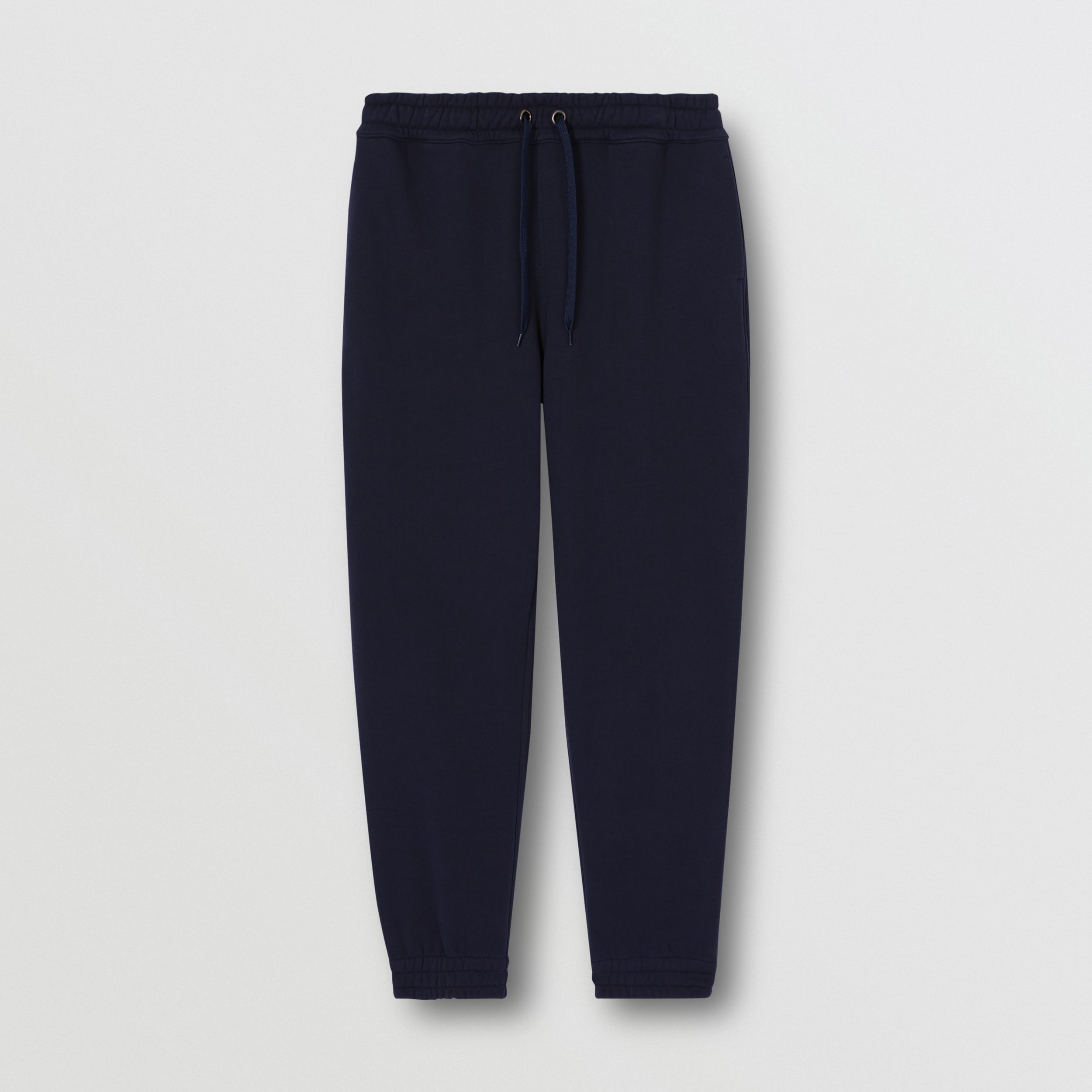 Logo Appliqué Cotton Trackpants in Navy - Men | Burberry - 4