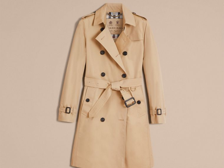 Honey The Kensington – Long Heritage Trench Coat Honey - cell image 4