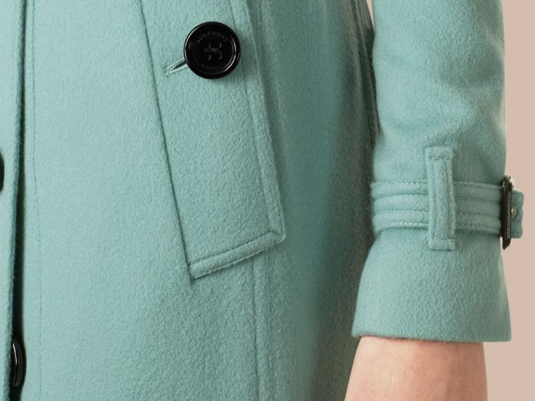 Dusty mint Sandringham Fit Cashmere Trench Coat Dusty Mint - cell image 1