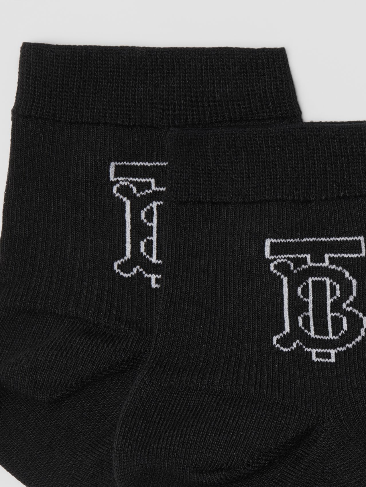 Monogram Intarsia Socks in Black