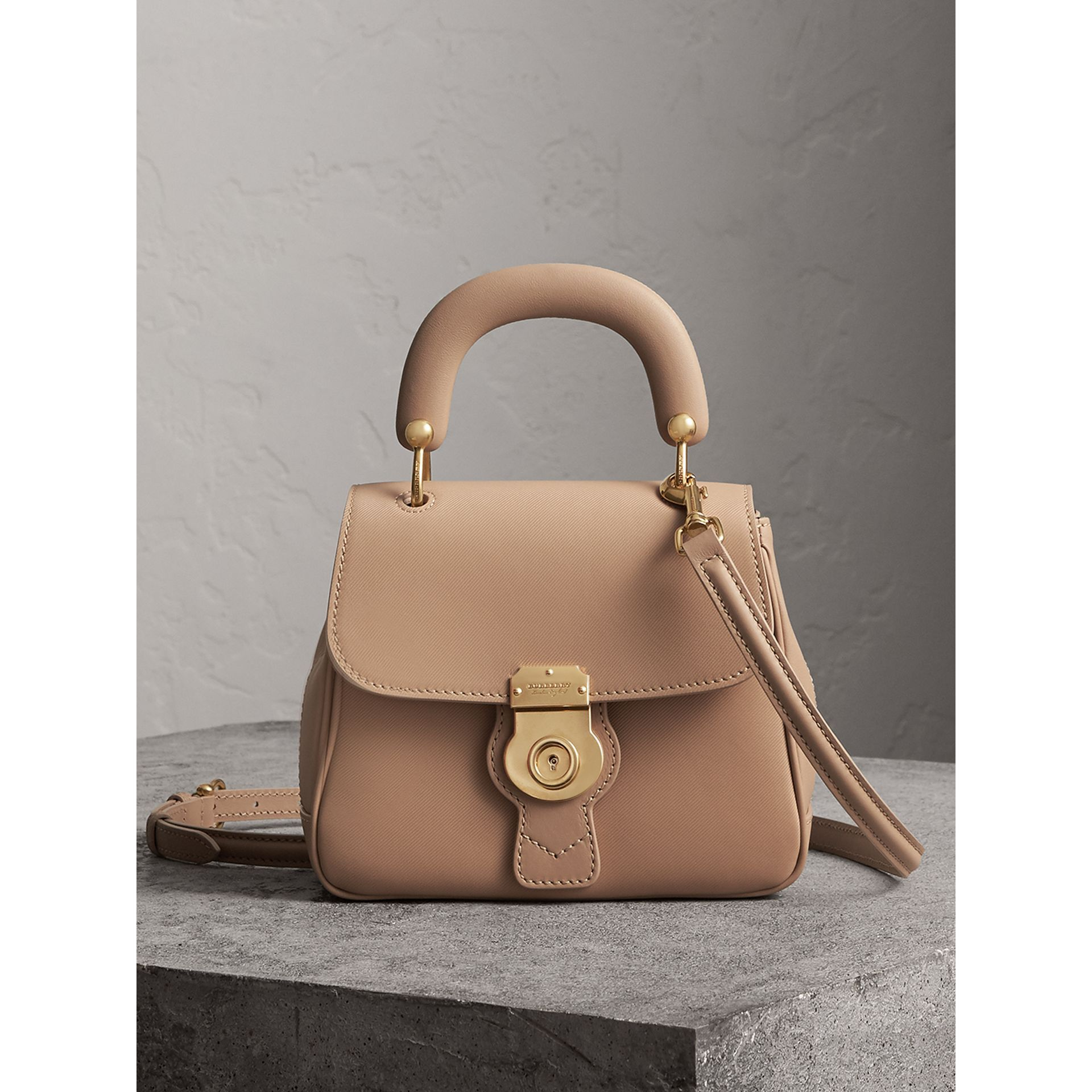 The Small DK88 Top Handle Bag in Honey - Women | Burberry - gallery image 0