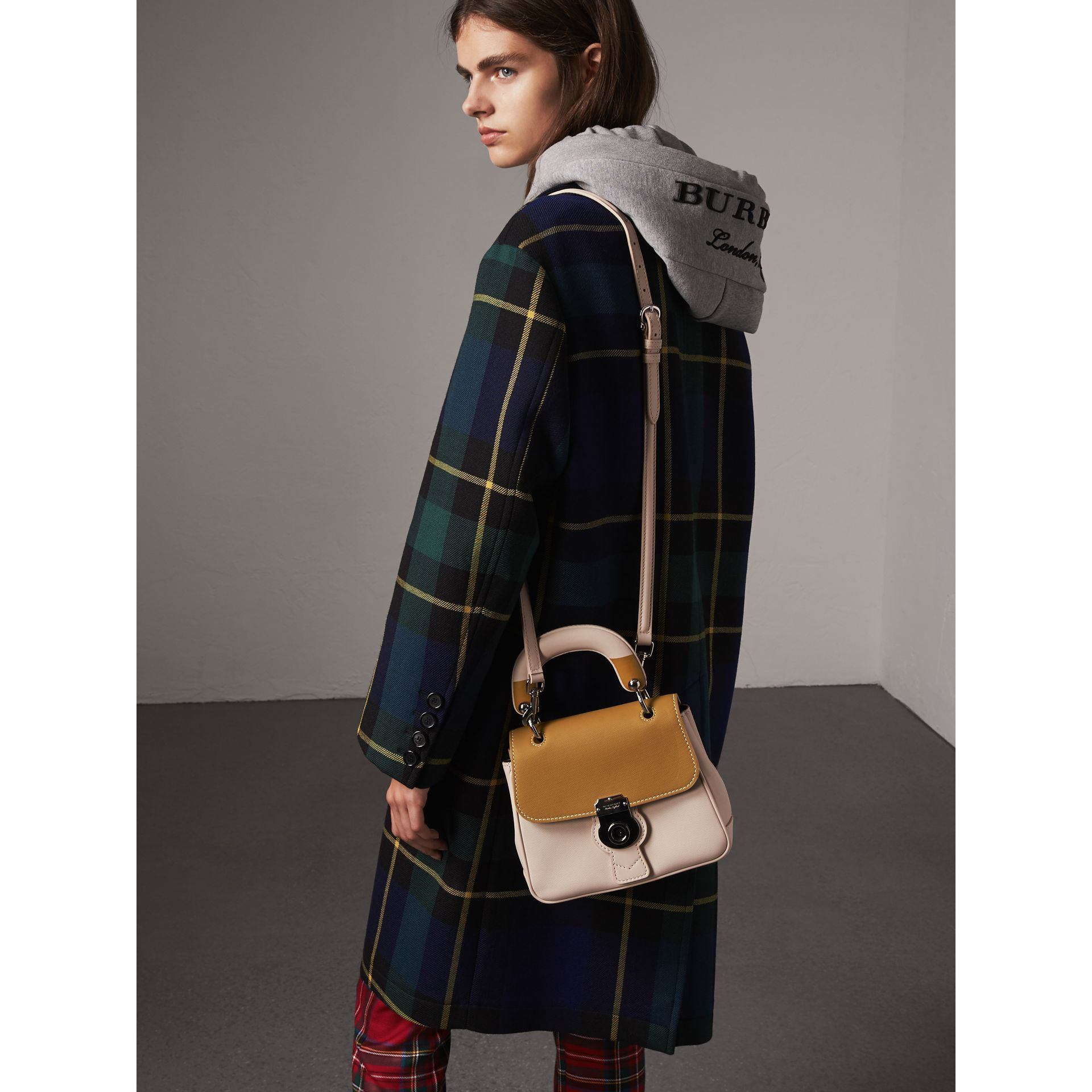 The Small DK88 Top Handle Bag with Geometric Print in Limestone/ochre Yellow - Women | Burberry Singapore - gallery image 3