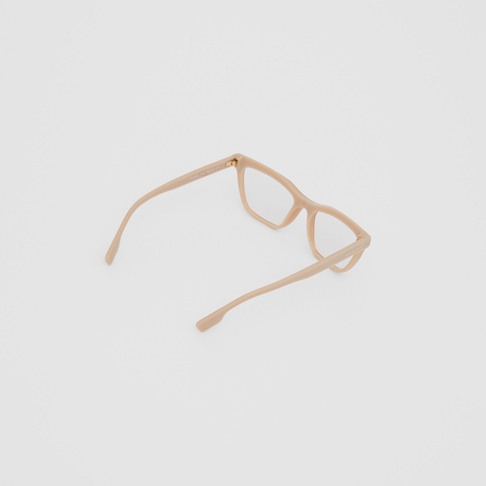 Rectangular Optical Frames in Peach - Women | Burberry - gallery image 3