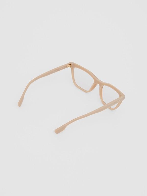 Rectangular Optical Frames in Peach - Women | Burberry - cell image 3