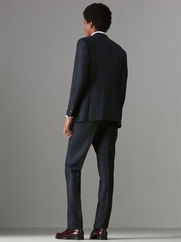 Soho Fit Tartan Wool Twill Suit in Navy - Men | Burberry - cell image 2
