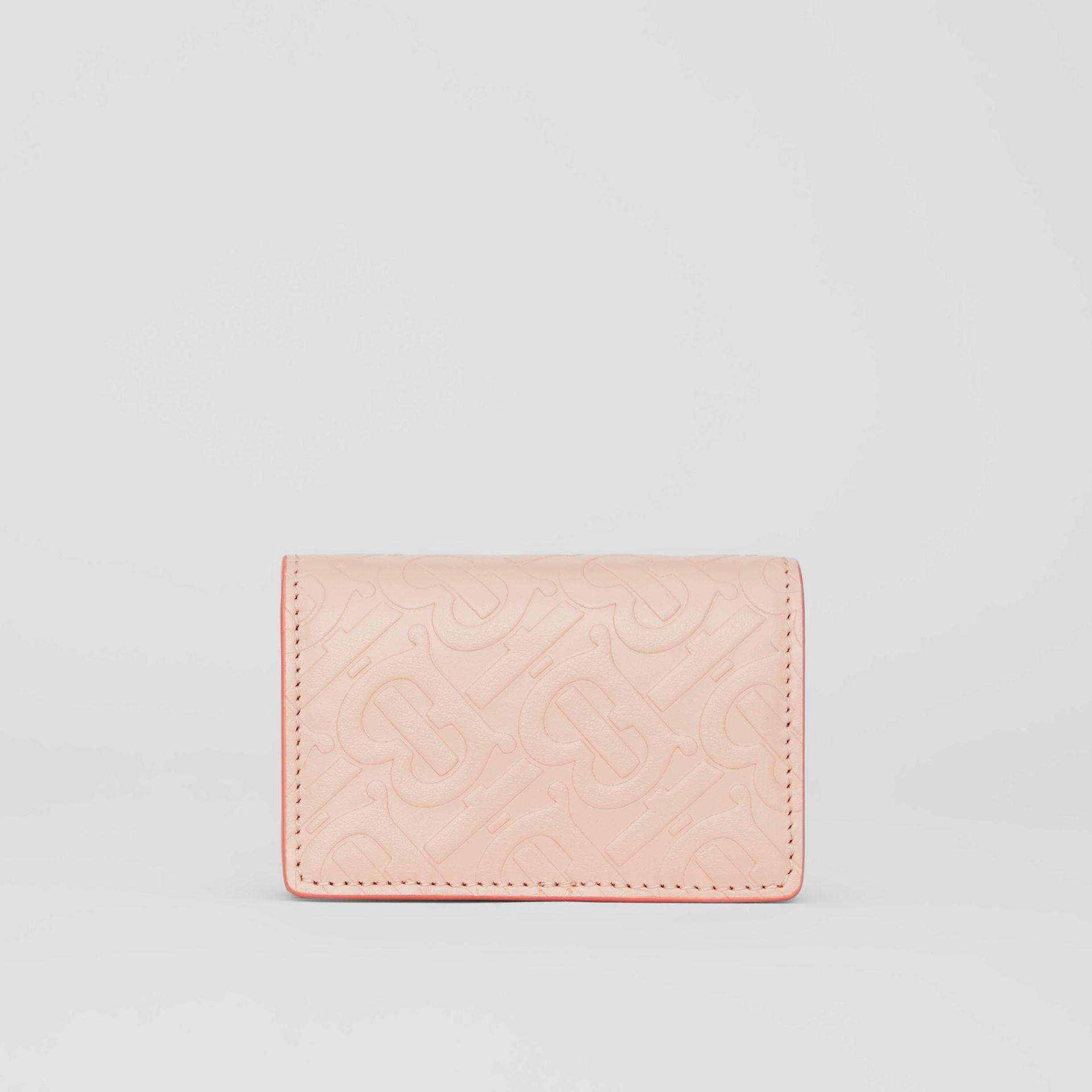 Monogram Leather Card Case in Rose Beige | Burberry - gallery image 4