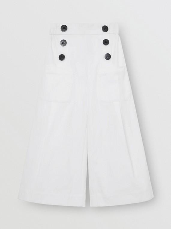 Pantalon de marin en coton mélangé (Blanc)