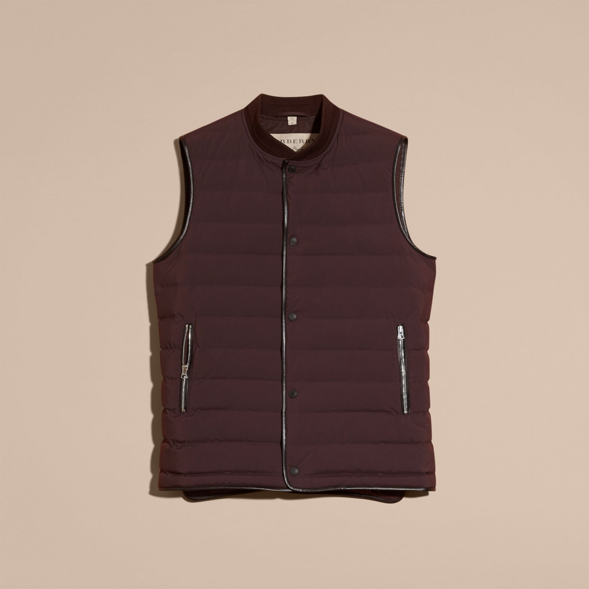 Elderberry Lambskin Trim Down-filled Gilet - gallery image 4