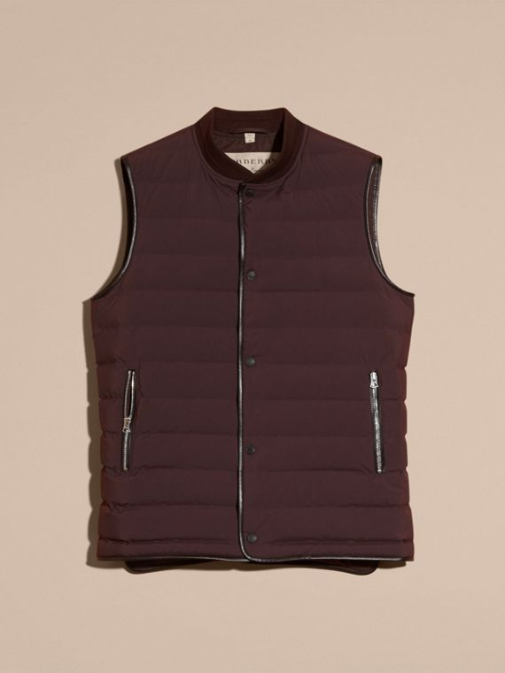Elderberry Lambskin Trim Down-filled Gilet - cell image 3