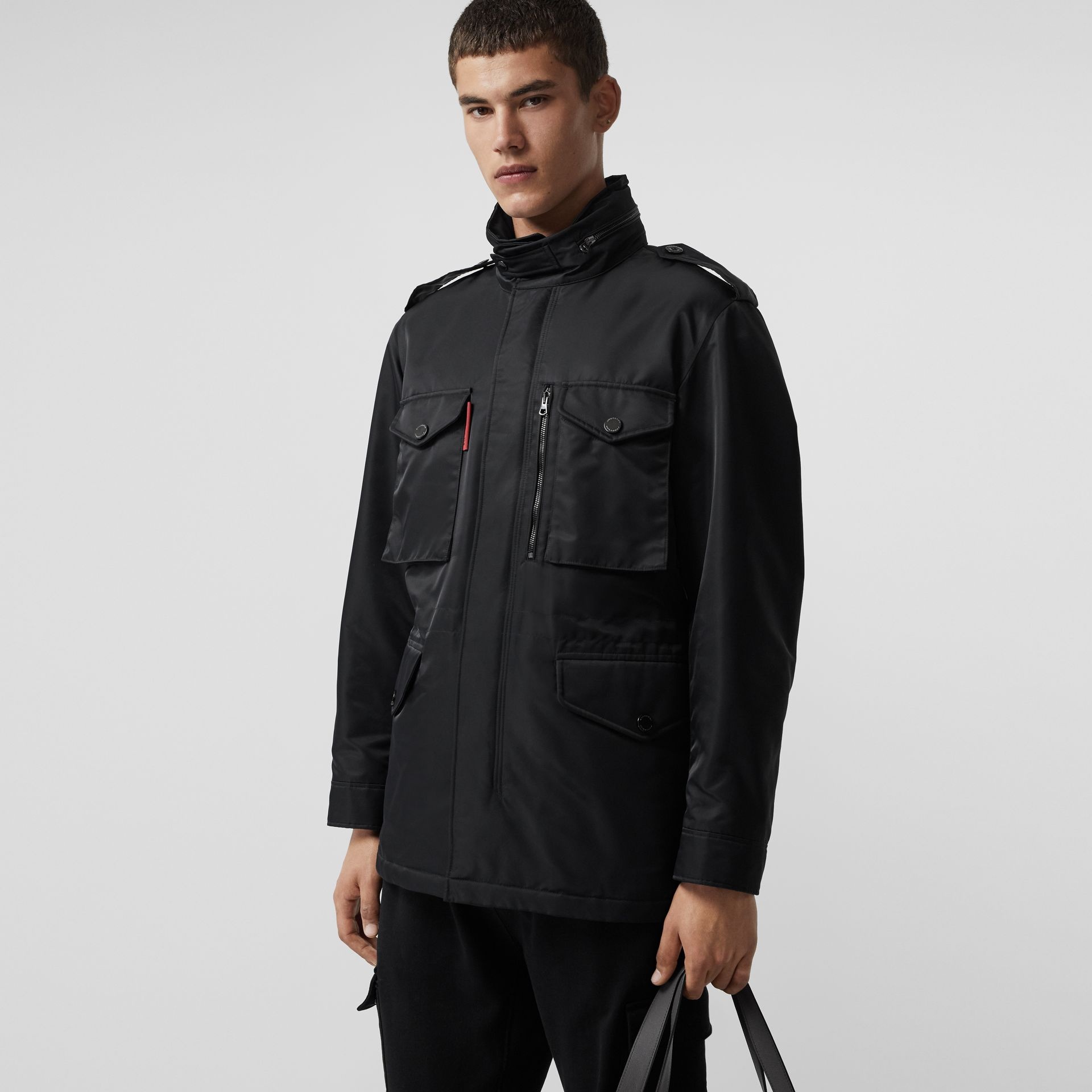 Packaway Hood Padded Field Jacket in Black - Men | Burberry - gallery image 5
