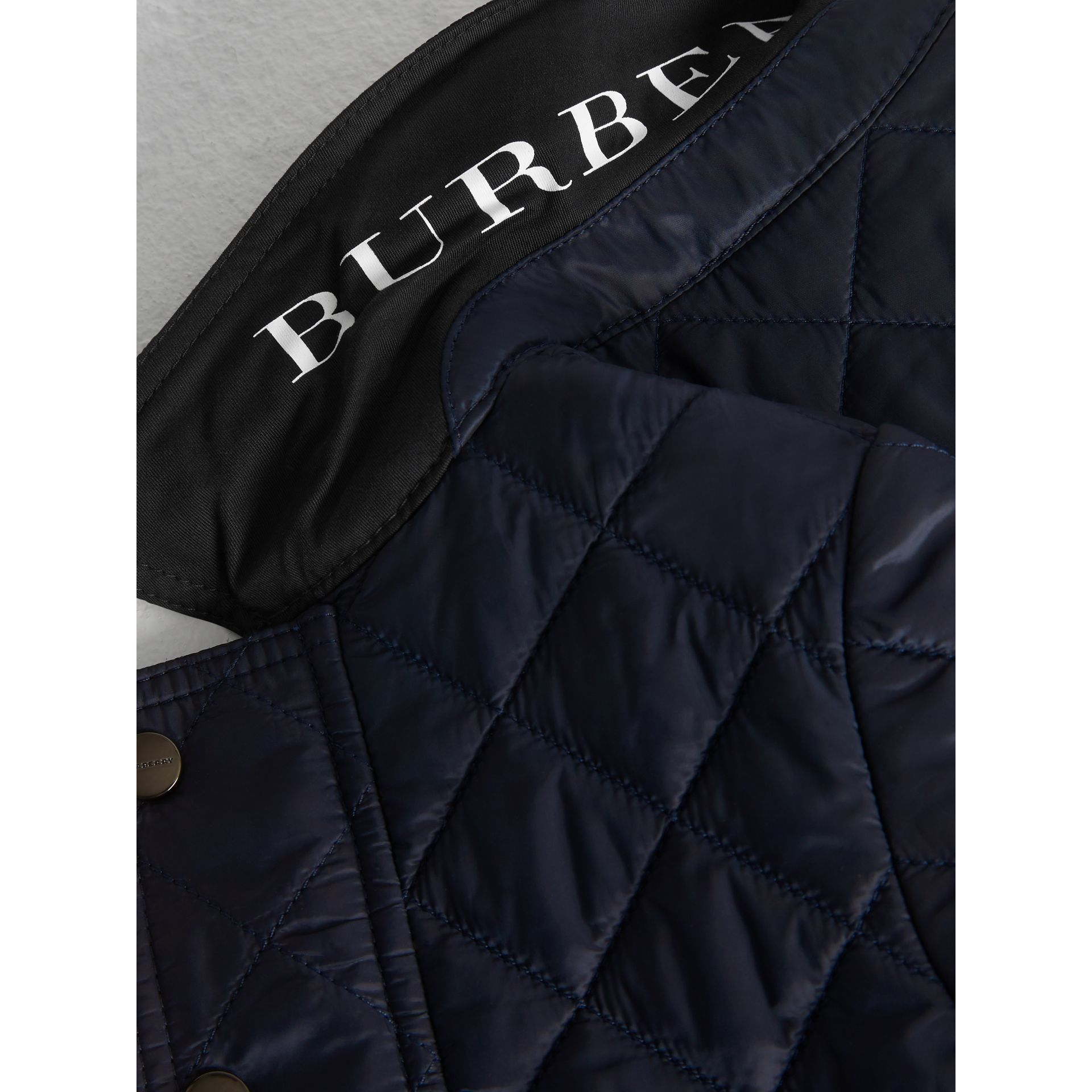 Lightweight Diamond Quilted Jacket in Ink - Children | Burberry United Kingdom - gallery image 1