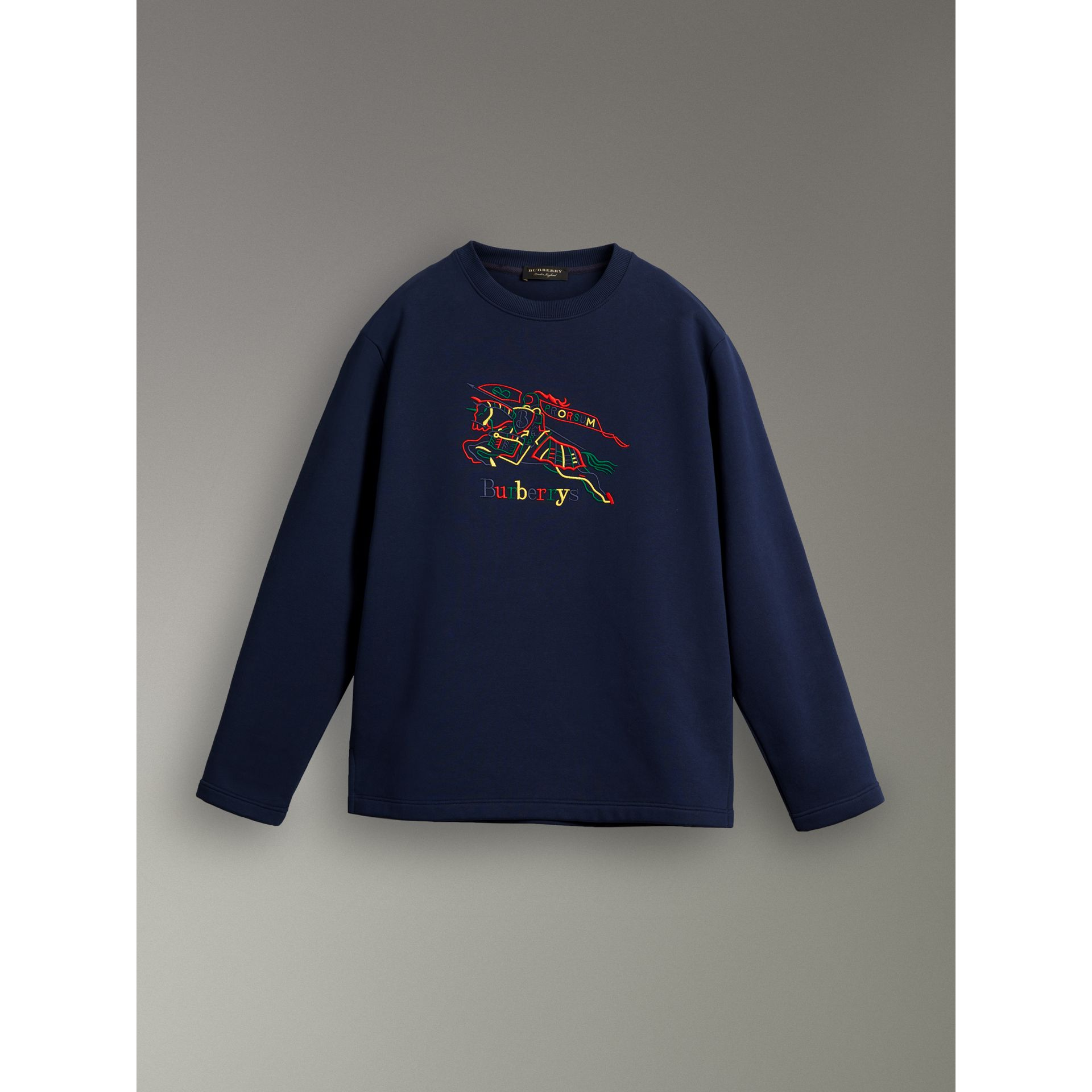Reissued Jersey Sweatshirt in Dark Blue - Women | Burberry United Kingdom - gallery image 3