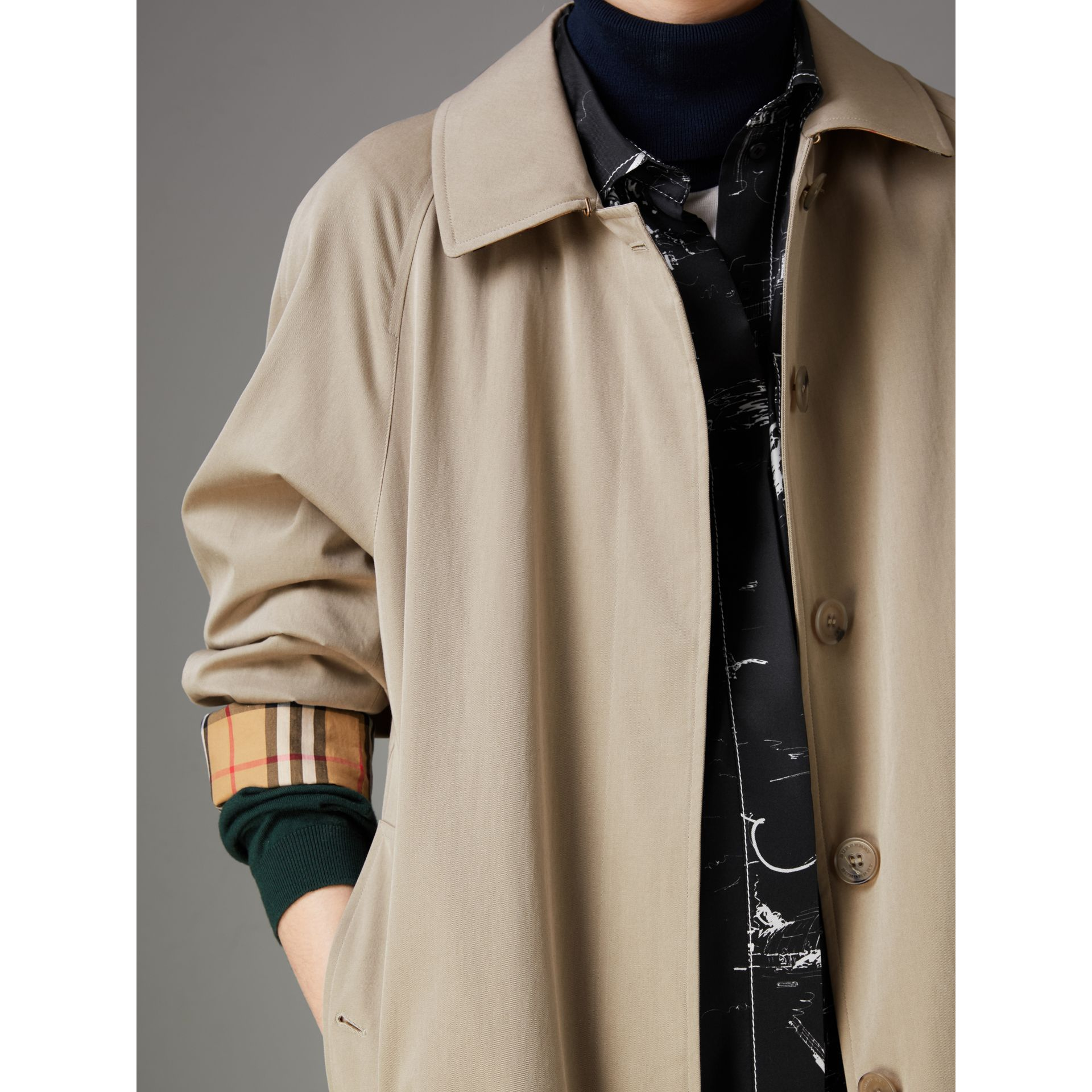 The Camden – Long Car Coat in Sandstone - Women | Burberry Australia - gallery image 1