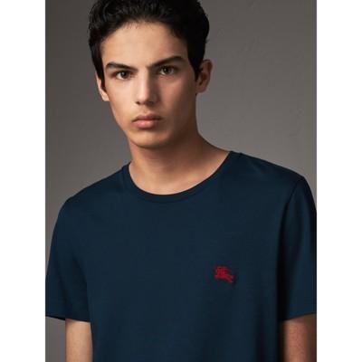Burberry Cotton-jersey T-shirt - Navy YYyw5