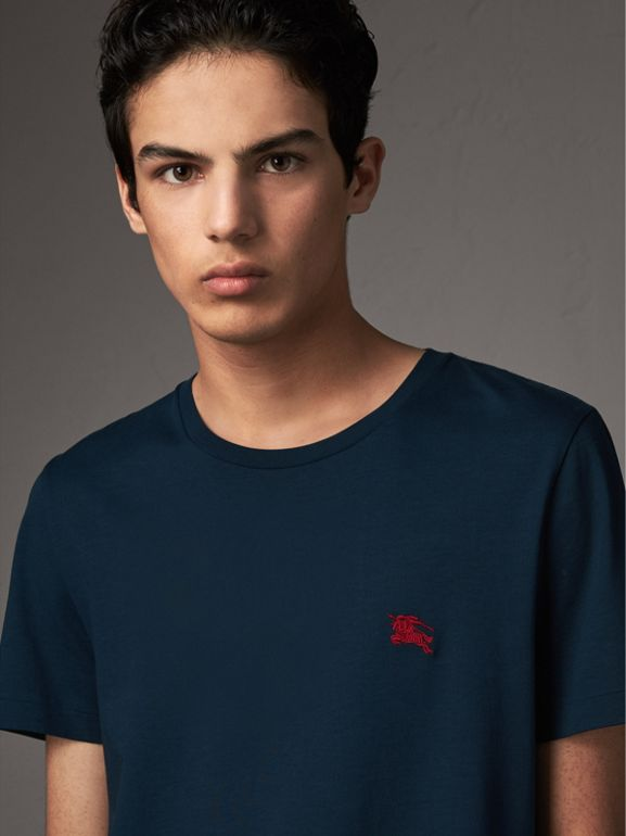 Cotton Jersey T-shirt in Navy - Men | Burberry United Kingdom - cell image 1