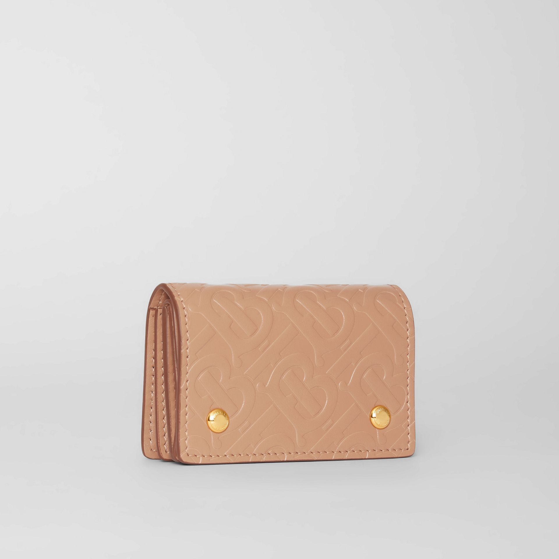 Porte-cartes en cuir Monogram (Camel Clair) | Burberry - photo de la galerie 3
