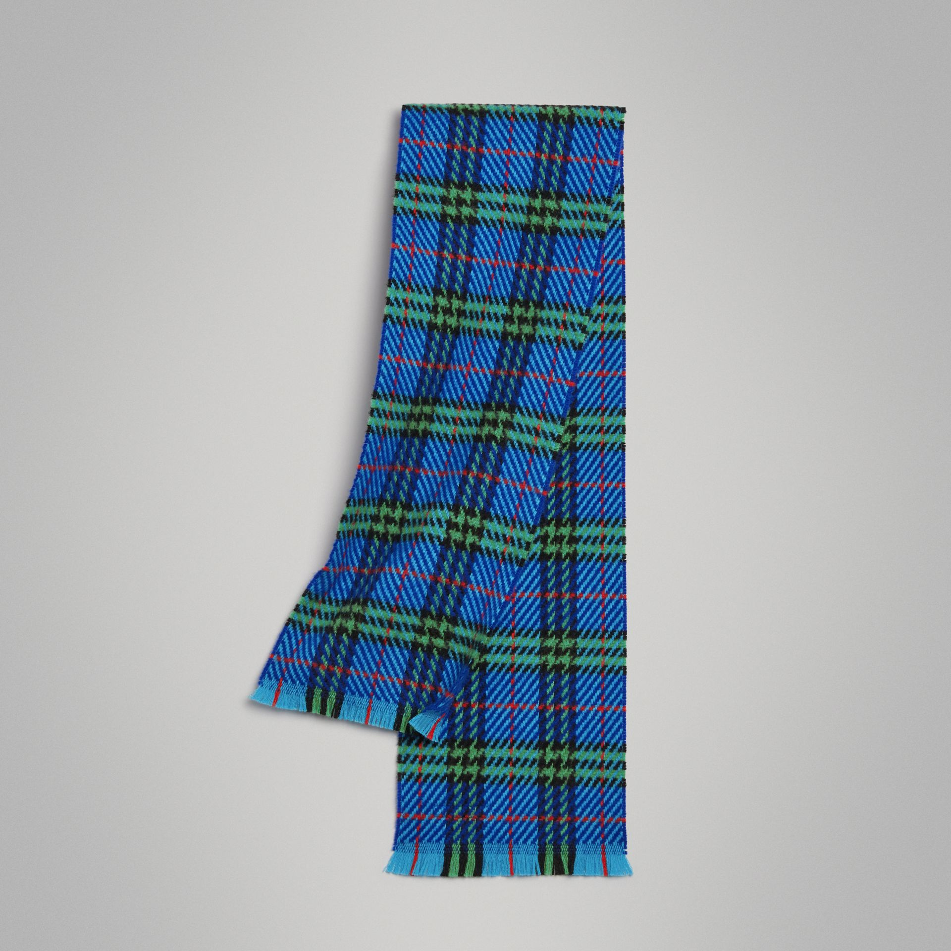 Vintage Check Merino Wool Scarf in Azure Blue | Burberry United States - gallery image 0