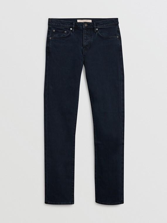 Jeans dal taglio dritto in denim stretch (Indaco Scuro)