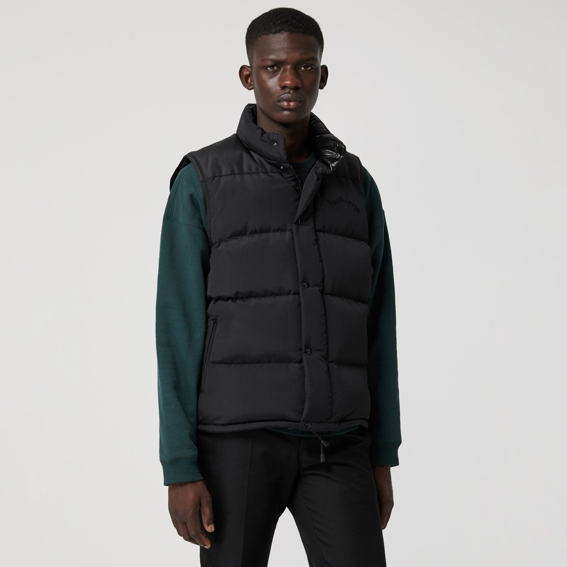 Detachable-sleeve Down-filled Puffer Jacket in Black - Men | Burberry United Kingdom - gallery image 4