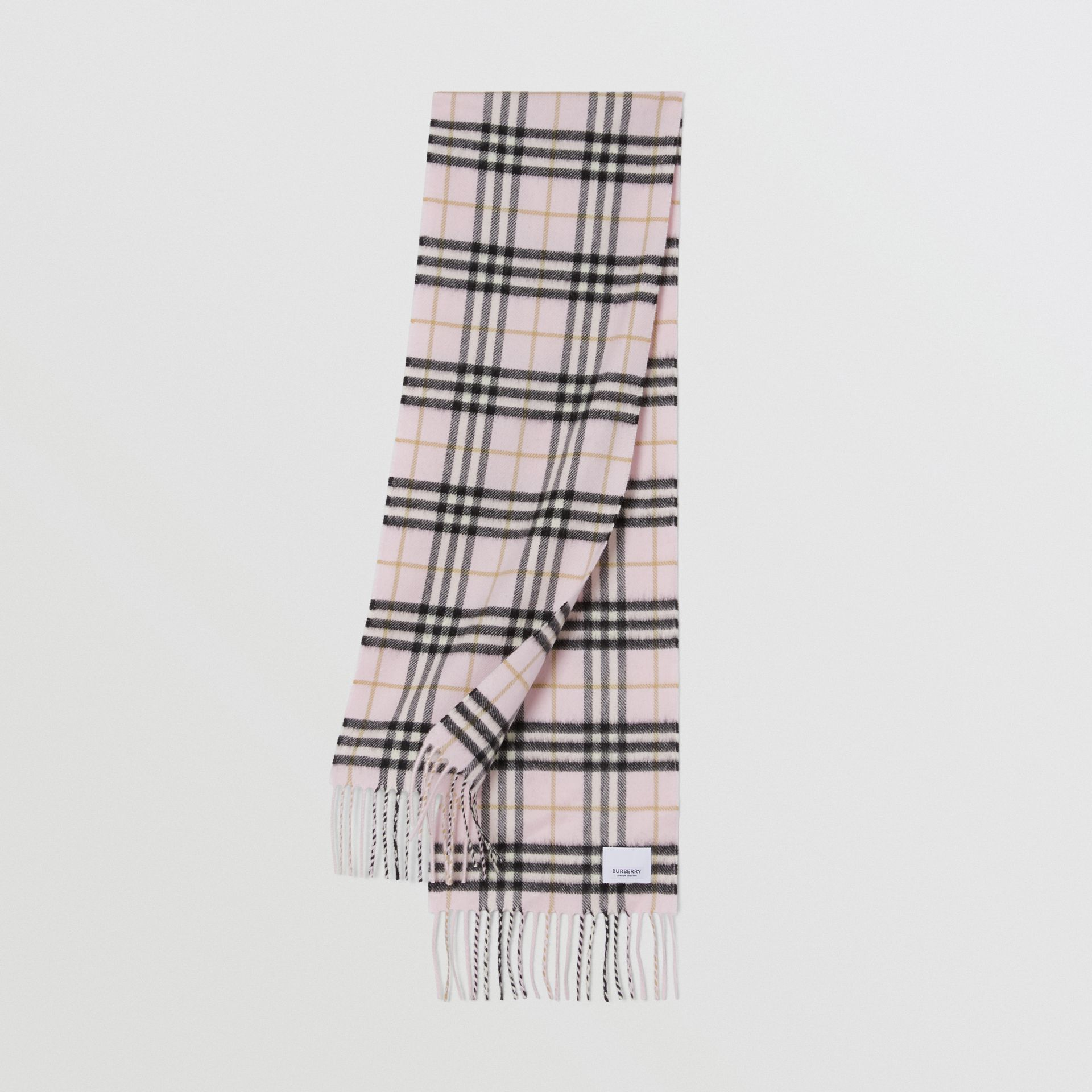 The Mini Classic Vintage Check Cashmere Scarf in Alabaster - Children | Burberry United States - gallery image 0