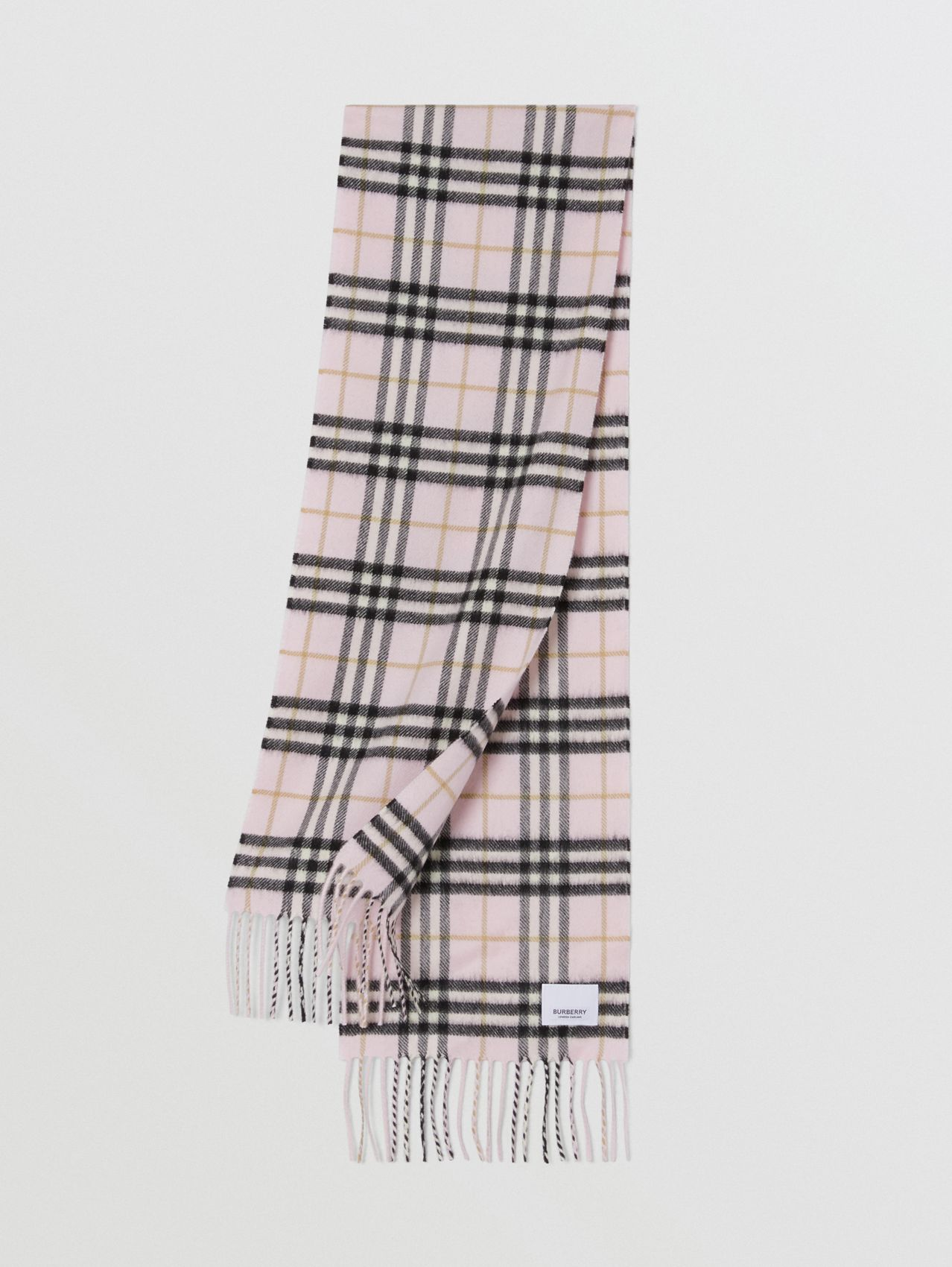 The Mini Classic Vintage Check Cashmere Scarf (Alabaster)