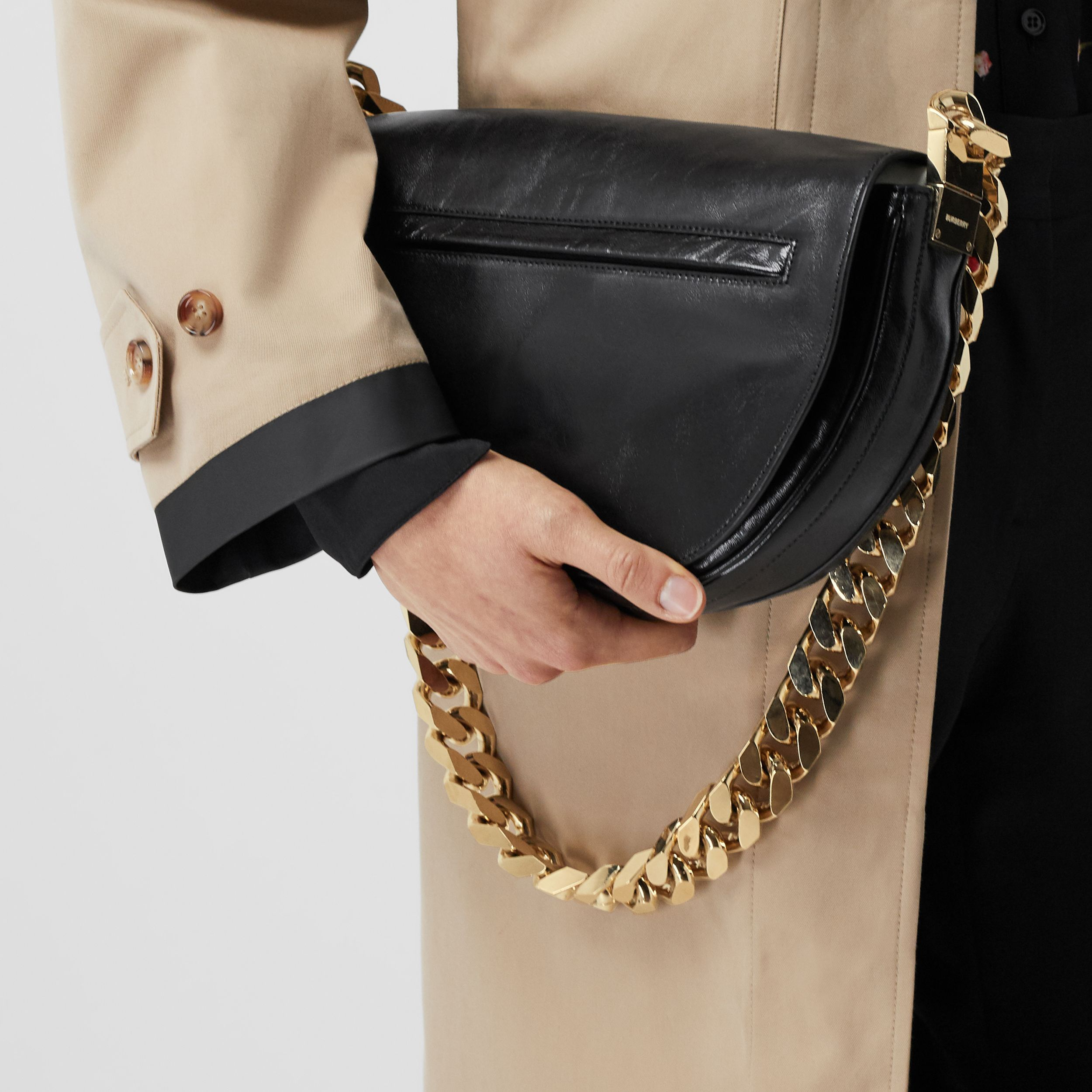 Medium Lambskin Olympia Bag in Black - Women | Burberry - 3