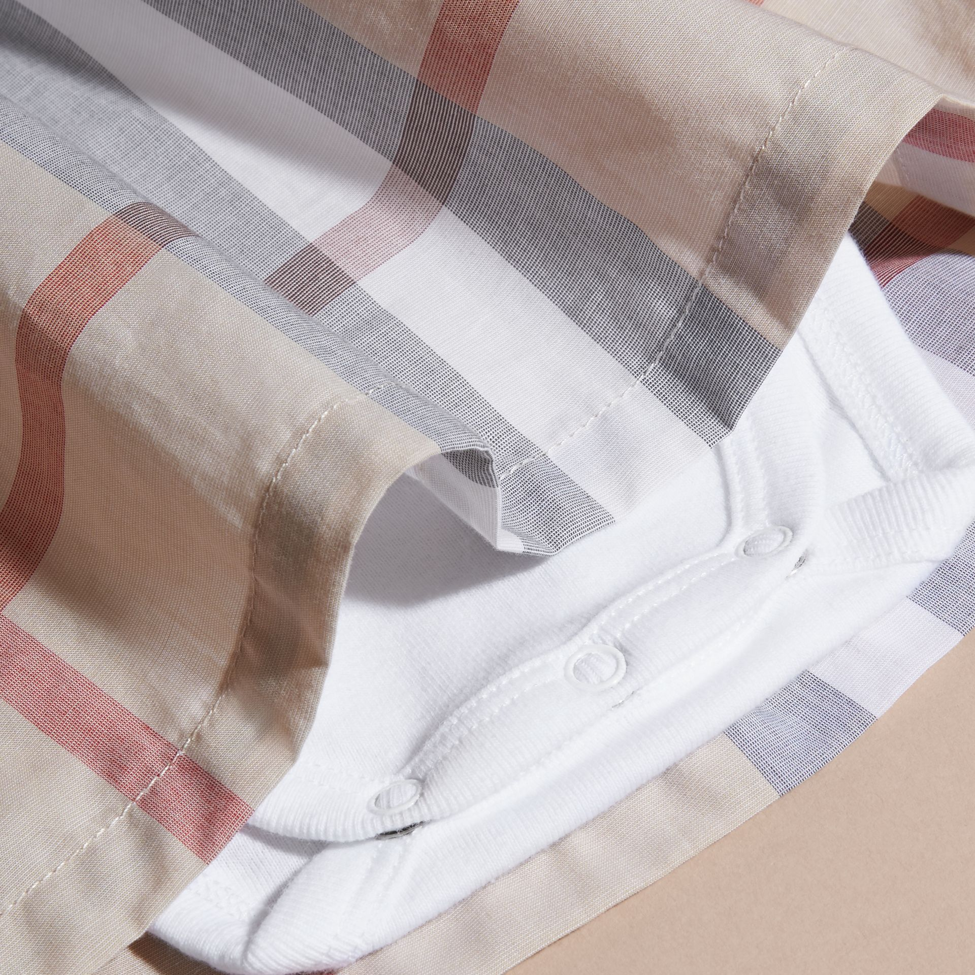 Cotton Check Dress | Burberry Canada - gallery image 2
