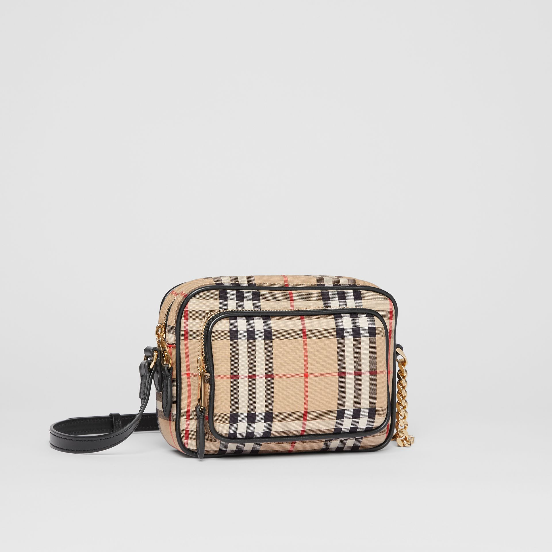 Vintage Check Cotton Camera Bag in Archive Beige - Women | Burberry Australia - gallery image 6
