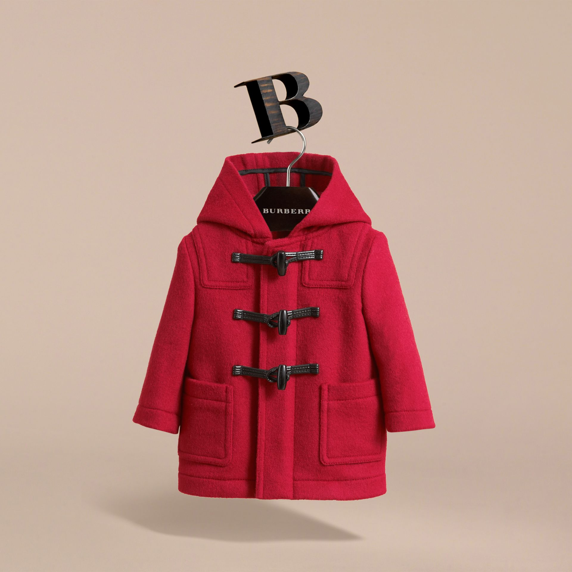 Wool Duffle Coat in Parade Red | Burberry - gallery image 3