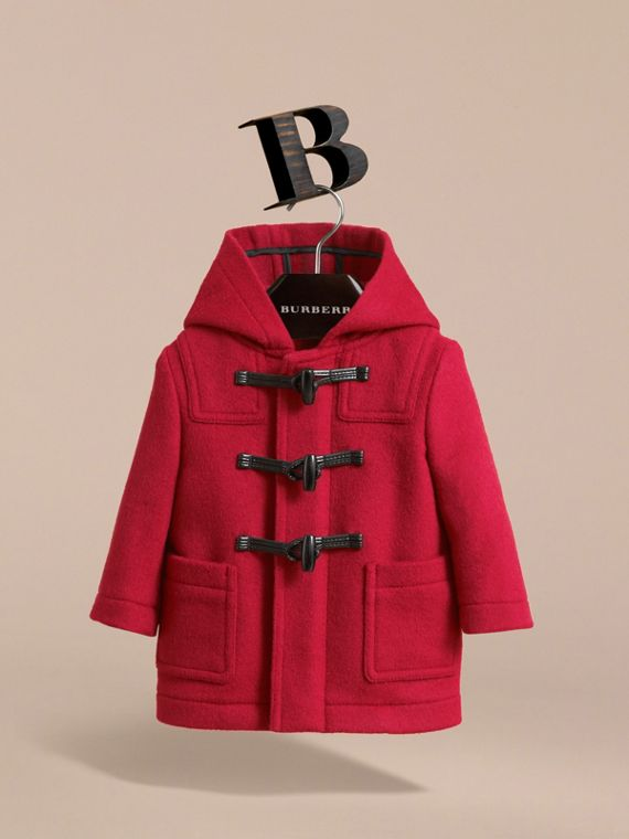 Wool Duffle Coat in Parade Red | Burberry Canada - cell image 2