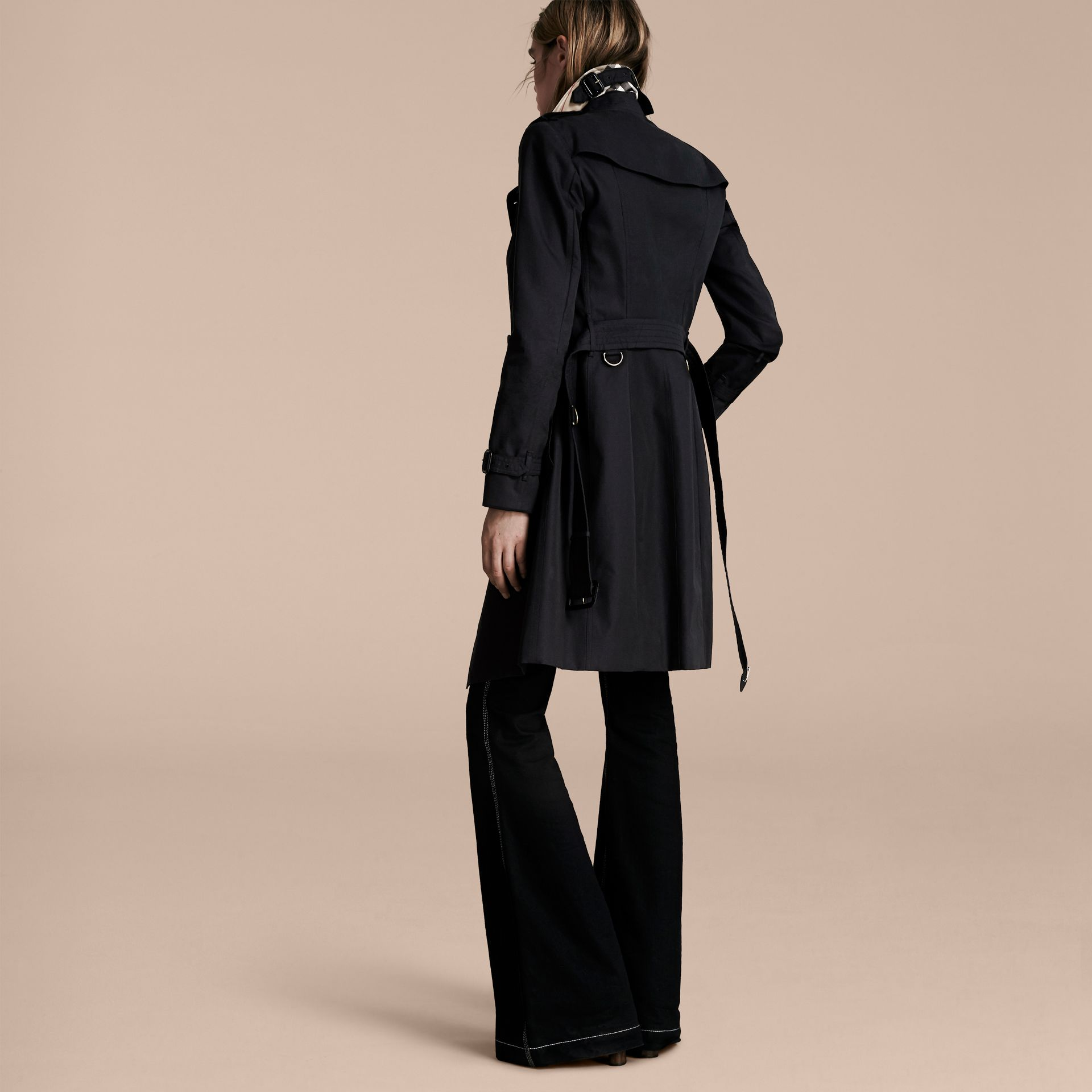 Navy The Sandringham  – Long Heritage Trench Coat Navy - gallery image 3