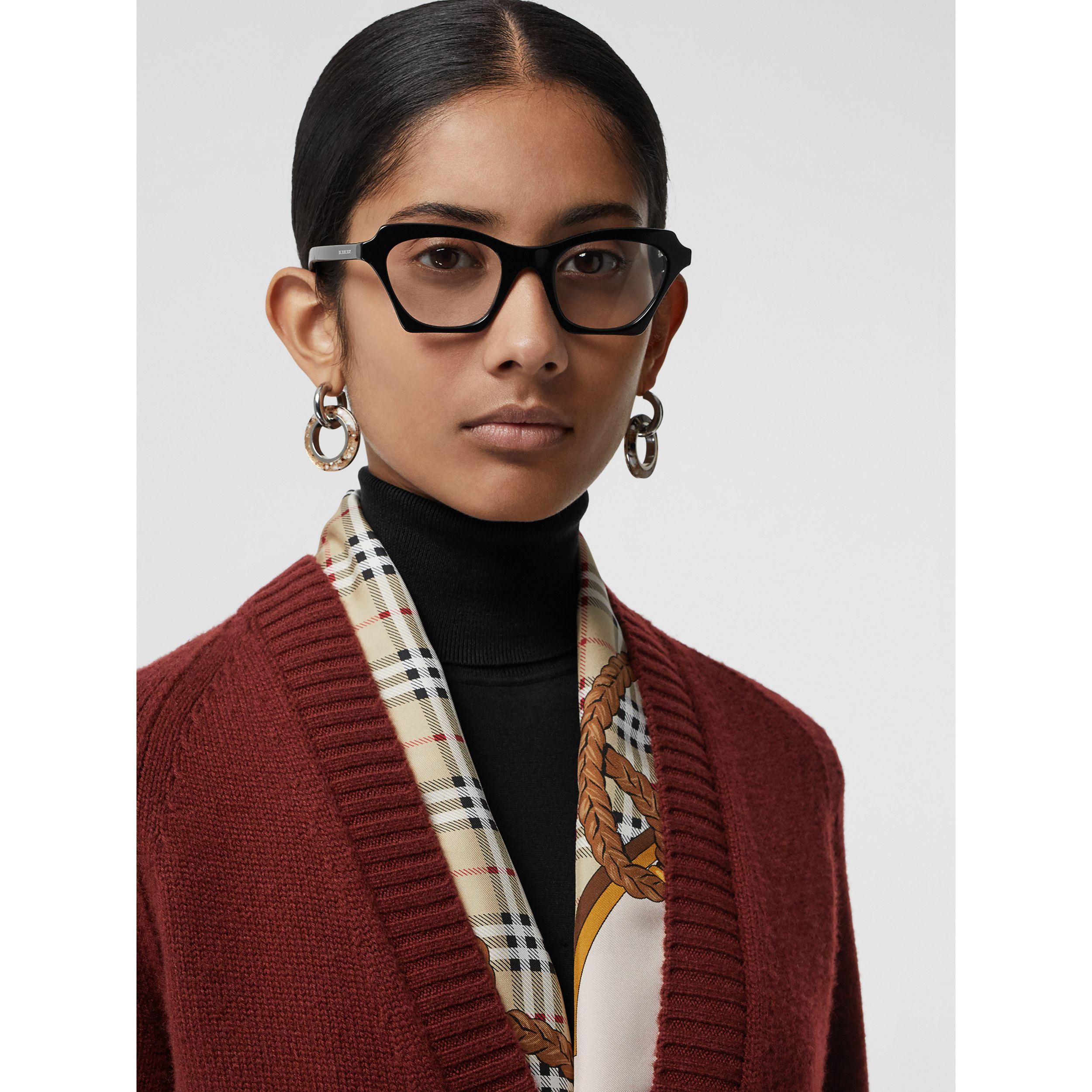 Butterfly Optical Frames in Black - Women | Burberry United Kingdom - 3
