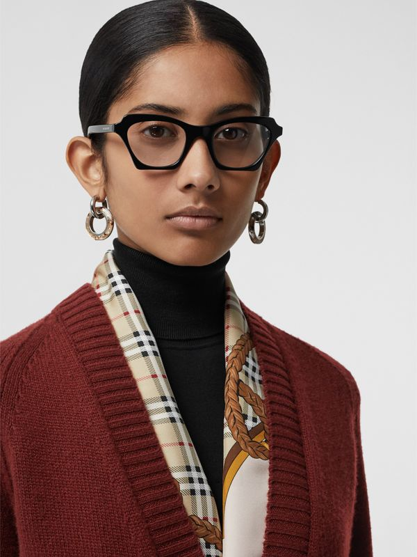 Butterfly Optical Frames in Black - Women | Burberry United Kingdom - cell image 2